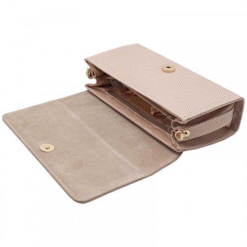 Peter Kaiser Lanelle Box Style Clutch Handbag Beige