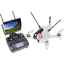 Walkera 15004460 FPV Racing-Quadrocopter Rodeo 150 RTF Drohne mit HD-Kamera, Monitor, Akku, Ladegerät und Devo 7 Fernsteuerung, weiß