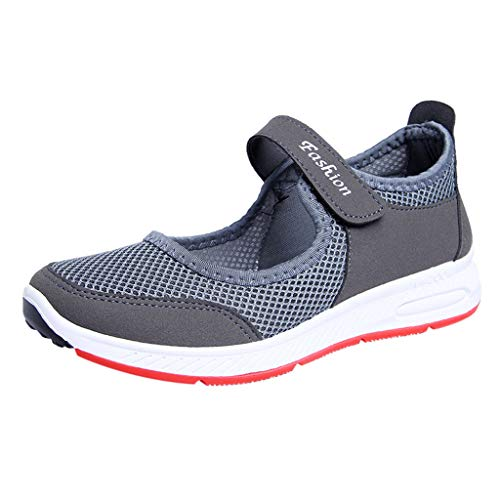 LILIHOT Damen Freizeitschuhe Mesh atmungsaktive Turnschuhe leichte Bequeme Laufschuhe mit Sportschuhen Mesh Canvas Schuhe Casual ultraleichte Sportschuhe Sommer Flache Schuhe