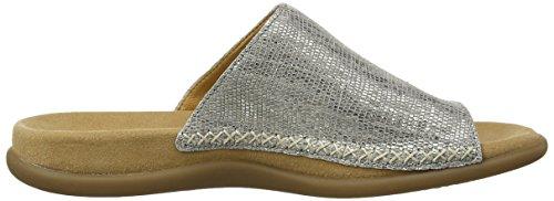 Gabor - Lanzarote L, ciabatte  da donna argento(Silver (Pewter Metallic Scaly Leather))