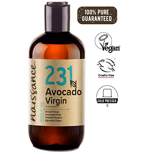 Naissance Aceite Vegetal de Aguacate n. º 231 - 250ml - 100% puro, virgen, prensado en frío, certificado ecológico, vegano y no OGM