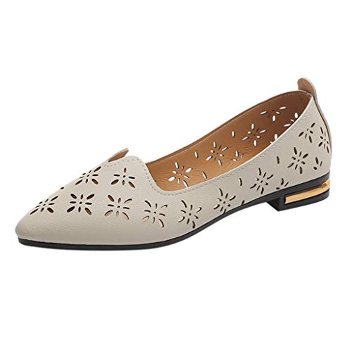 Damen Mode Casual Geschlossene Zehen Flache Arbeitsschuhe Flache Atmungsaktive Hohle Erbsenschuhe Einzelschuhe Faule Schuhe