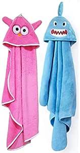 BRANDONN Fashions for Newborn Ultrasoft Light Weight Hooded Baby Bath Towel