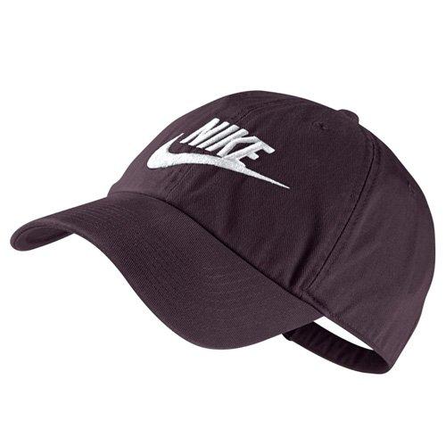 Band-logo Gestickt Hat (Nike U NSW H86 Futura Washed Kappe, Portwein/Weiß, One Size)