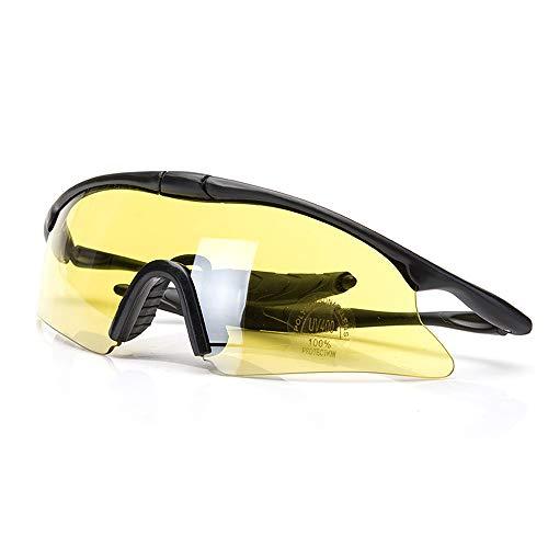 GBY Snowboard X100 Brille Schießbrille Taktische Brille Reiten Sonnenbrille CS Brille Sportbrille, Polykarbonat, gelb, Einheitsgröße