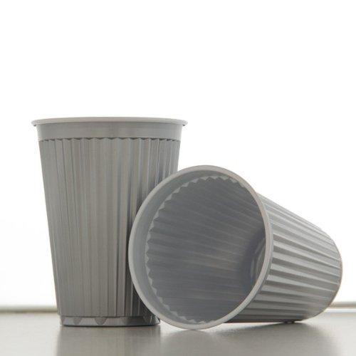 Flo Automatenbecher Thermobecher 100 Stk silber/grau, 180ml, Kunststoff-Becher (Kunststoff Grau Silber)