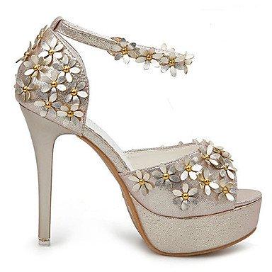 RTRY Donna Sandali Estate Autunno Scarpe Club Comfort Novità Pu Wedding Outdoor Party & Abito Da Sera Casual Stiletto Heel Applique B US7.5 / EU38 / UK5.5 / CN38