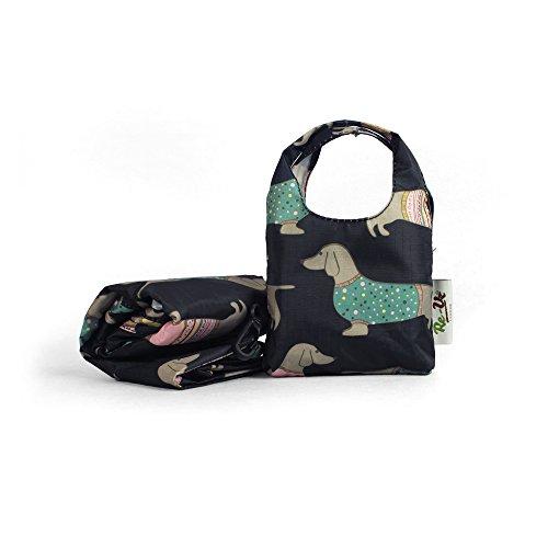 Re-Uz-Trendy-Folding-Reusable-Waterproof-Carrier-Shopper-Supermarket-Gym-Swim-Grocery-Tote-Bag-Sausage-Dog-Dachshunds