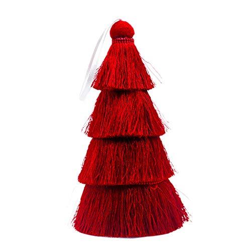 Kostüm Weihnachtsbaum Womens - Mitlfuny Festival dekor,Christmas,Halloween,Weihnachtsdekoration,Halloween deko,Halloween kostüm,Weihnachtsdekoration Mehrfarbige Quaste Weihnachtsbaum Anhänger Hängende Verzierung