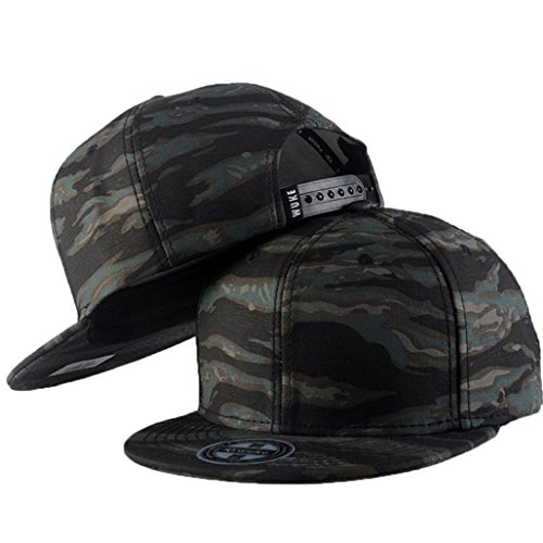 Wawer Unisex Männer Frauen Casual Baseball Camouflage Cap Snapback Hut Hip-Hop Einstellbar (Colour D) (Snapbacks Hüte)