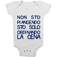body da neonato bimbo e bimba cena da 3 a 24 mesi by tshirteria