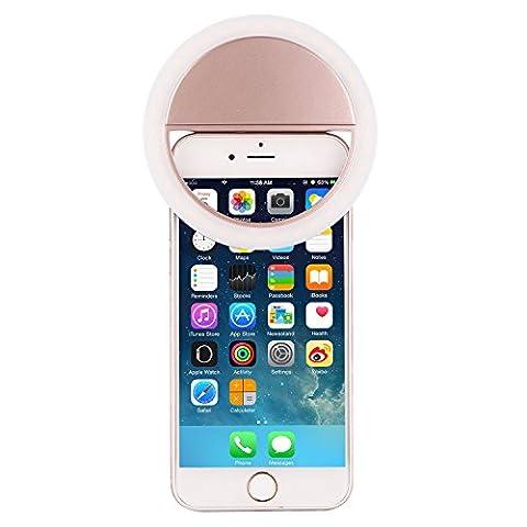 SAMTIAN Selfie Anneau Macro-clip Equipé de 36 LED Clip on