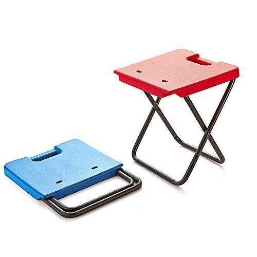 Pinkfishs Execution R Outdoor Camping Chaise Pliante Portable en Aluminium Tabouret Pique-NIC Max Charge 80kg - Bleu