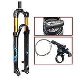"ZNND 26"" Mountain Bike Suspension Fork, 1-1/8' Lightweight Magnesium Alloy MTB Bike Gas"