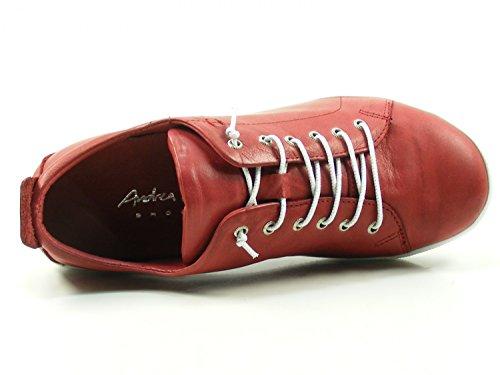 Andrea Conti 0345724, Baskets Femme Rouge