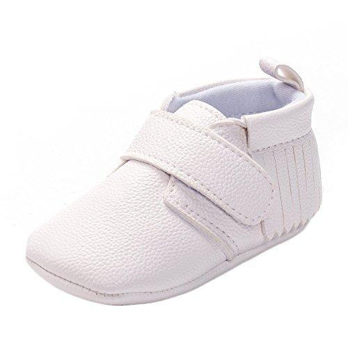 Bebé Niñas Niños Blanco Bautizo Bautismo Ablución Boda Fiesta Zapatos 12-18 Meses