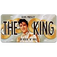 Elvis Presley The King Placca gli auto piatto Nuovo 15x31cm (Elvis Presley Tin)