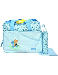 Kayakare Multi Compartment Mother Daiper Bag/For Baby Care Daiper Changing Mat And Bottle Cover (Aagelo Sky Blue)