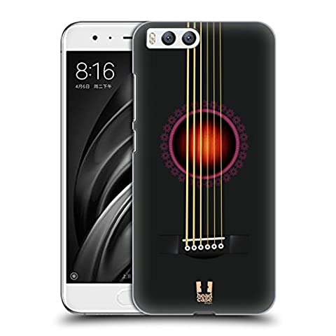 Head Case Designs Noir Guitare Acoustique Étui Coque D'Arrière Rigide Pour Xiaomi Mi 6