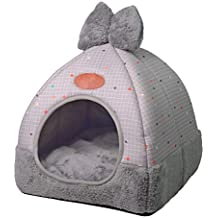 TianBin Moda Plegable Nido de Mascotas Otoño e Invierno Cerrado Perrera Hay un Arco en Top