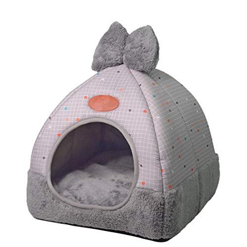 Tianbin chiuso nido di animali domestici autunno e inverno moda pieghevole casa del gatto (grigio#2, l)