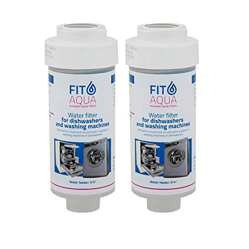Fit aqua AC-WSM AM-SET-I 2 x Waschmaschinenfilter Kalkfilter Spülmaschinenfilter Wasserfilter Fitaqua, 2 Stück
