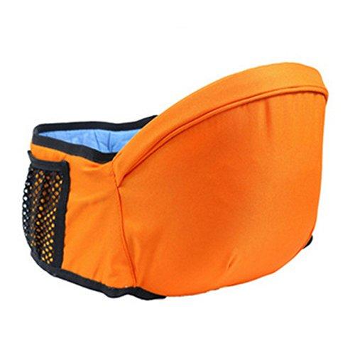 SMARTRICH Baby Kleinkinder Hip Sitz Unterstützung Gürtel Taille Hocker Walkers Carrier Baby Hip Sitz, Baumwolle, Orange, 67-110 cm