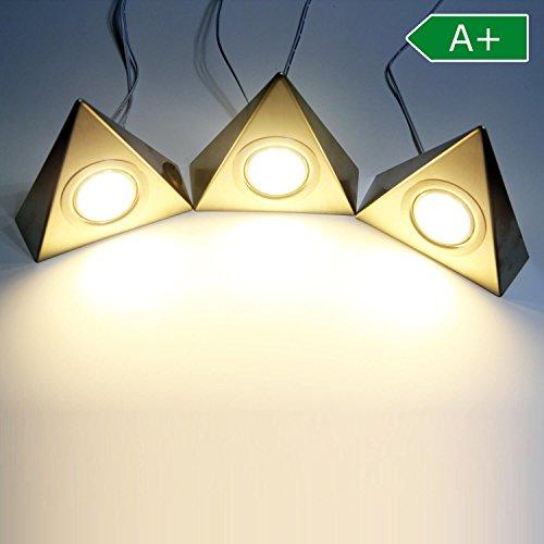 Preisvergleich Produktbild LED Unterbaustrahler 3er Set Küchenleuchte Küche Schrankleuchte warmweiss Lampen