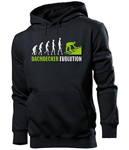 DACHDECKER EVOLUTION 4605 Herren Hoodie (HKP-SW-Weiss-Grün) Gr. XL