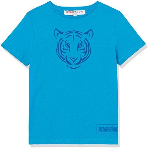 RED WAGON Jungen T-Shirt mit Tiger-Print, Blau (Bright Blue), 122 (Herstellergröße: 7 Jahre) (Print T-shirt Tiger)