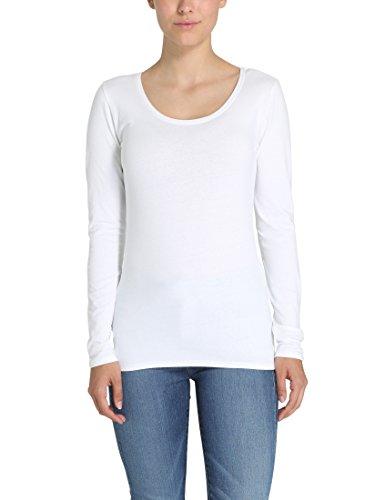 Berydale Damen Slim Fit Langarmshirt, Weiß, S