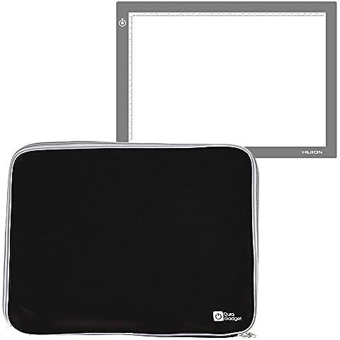 DURAGADGET Funda De Neopreno Negra Para Tableta Gráfica / Caja de luz Huion L4S | LB4 | A4 - Resistente Al