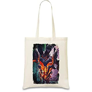 Battleborn Shayne And Aurox Custom Printed Tote Bag| 100% Soft Cotton| Natural Color & Eco-Friendly| Unique, Re-Usable & Stylish Handbag For Every Day Use| Custom Shoulder Bags By Style Matters