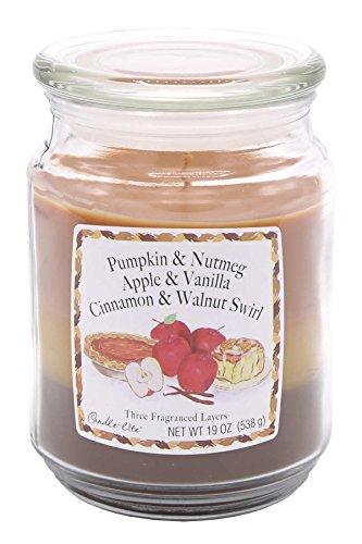 Scheda dettagliata Candle Lite - Candela in Barattolo di Vetro in 3 Strati, 540 g, Pumpkin/Apple/Cinnamon