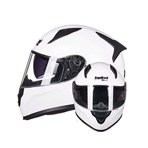 Casco moto anti-appannamento a doppia lente per adulti casco integrale per caschi moto per attività all'aria aperta, protezioni di sicurezza moto motocross in tutte le stagio