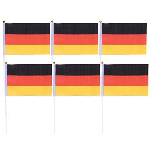 Toyvian Hand Deutschland Flagge 50 stücke Kleine Deutschland Flagge Auf Stick International World Country Stick Flaggen Banner Party Dekoration -