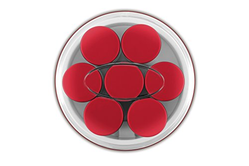 Ufesa Yogurtera Electrica Yg3000, 15 W, 1.4 litros, De plástico, Blanco/Rojo