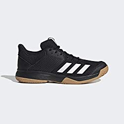 adidas Womens Ligra 6 Volleyball Shoe, Core Black/Cloud White/Gum, 38 2/3 EU