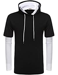 HOTOUCH Men's Hipster Hip Hop Hoodie Long Sleeve Tshirt With Pocket