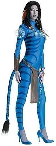 Fancy Me - Déguisement femme sexy combinaison Neytiri Avatar Taille 36-46 - Bleu, 44-46