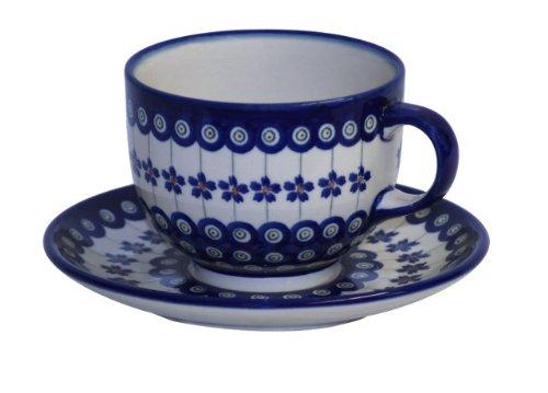 bunzlauer-keramik-tasse-mit-untertasse-milchkaffeetasse-05-liter-dekor-166a