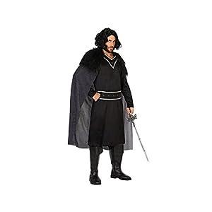 Atosa-54551 Disfraz Vikingo, Color Negro, M-L (54551)