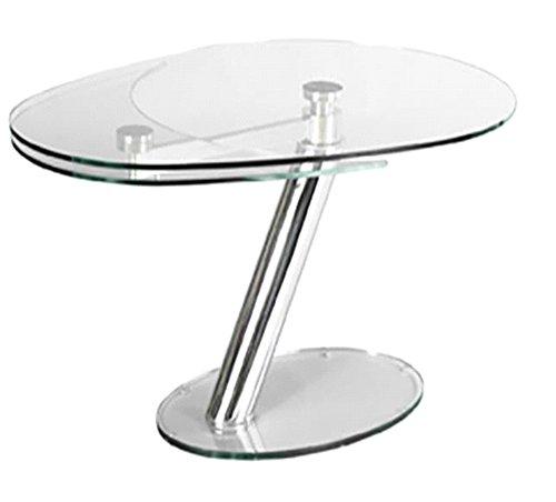 shine mount Italiano Moderno allungabile espandibile Irregolare Top in Vetro Tavolo da Pranzo con Square Feet