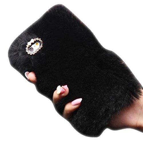 iphone-6s-47-coque-tonsee-chaud-laine-fluffy-faux-villi-fur-peluche-bling-housse-etui-noir