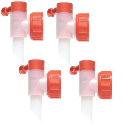 Preisvergleich Produktbild Dosierhilfe Profi Power Auslaufhahn 4 STÜCK SET DIN 45 Abfüllhahn für 5 L, 10 L Kanister