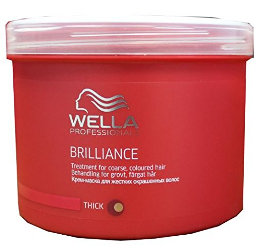 Wella Professionals - Masque pour Cheveux Colorés et Epais - Soin et Brillance - Brilliance Treatment Mask - 500ml [Personal Care]