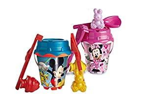 Mickey Mouse- Mickey & Minnie Set Cubo Castillo de 18 cm con Pala (Mondo 311011)