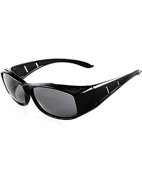 Gafas de sol de la manera para las mujeres de los hombres desgaste polarizado de la lente sobre los anteojos de...