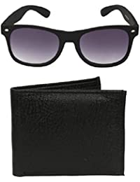 Mango People Combo Of Black Sunglass And Wallet For Mens