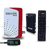 hd-line HD 80 Mini Satelliten Digitaler Receiver - Kompatibel mit LCD & LED Fernsehern (HDTV, DVB-S/S2, HDMI, 2x USB 2.0, Full HD 1080p) [Vorprogrammiert für Astra, Hotbird, Türksat]